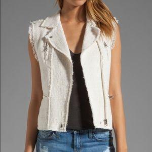 Rebecca Taylor Tweed Moto Vest Size 6